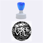 Pierce The Veil Quote Galaxy Nebula Rubber Round Stamps (Medium) 1.5 x1.5  Stamp