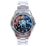 Pierce The Veil Quote Galaxy Nebula Stainless Steel Analogue Watch Front