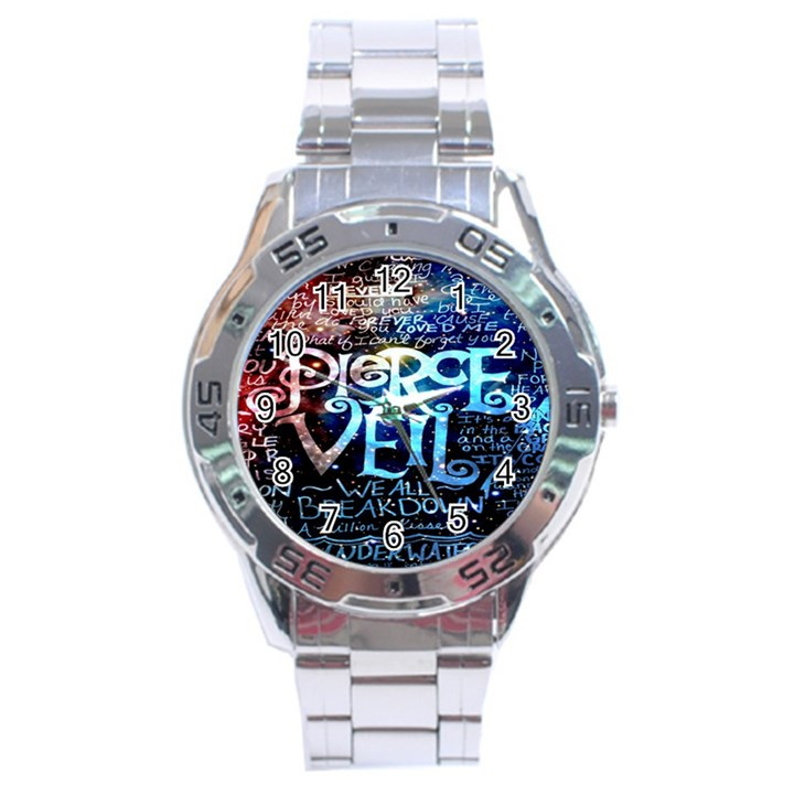 Pierce The Veil Quote Galaxy Nebula Stainless Steel Analogue Watch