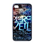 Pierce The Veil Quote Galaxy Nebula Apple iPhone 4 Case (Black) Front