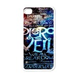 Pierce The Veil Quote Galaxy Nebula Apple iPhone 4 Case (White) Front