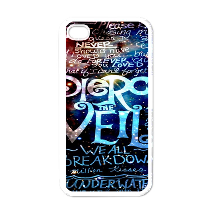 Pierce The Veil Quote Galaxy Nebula Apple iPhone 4 Case (White)
