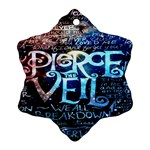 Pierce The Veil Quote Galaxy Nebula Ornament (Snowflake)  Front