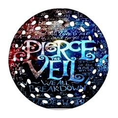 Pierce The Veil Quote Galaxy Nebula Round Filigree Ornament (2Side)