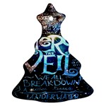 Pierce The Veil Quote Galaxy Nebula Christmas Tree Ornament (2 Sides) Back