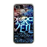 Pierce The Veil Quote Galaxy Nebula Apple iPhone 4 Case (Clear) Front