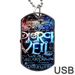 Pierce The Veil Quote Galaxy Nebula Dog Tag USB Flash (Two Sides)  Back
