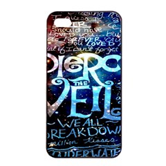 Pierce The Veil Quote Galaxy Nebula Apple iPhone 4/4s Seamless Case (Black)