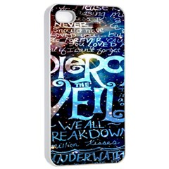 Pierce The Veil Quote Galaxy Nebula Apple iPhone 4/4s Seamless Case (White)