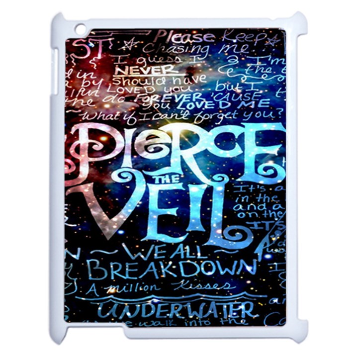 Pierce The Veil Quote Galaxy Nebula Apple iPad 2 Case (White)