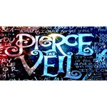 Pierce The Veil Quote Galaxy Nebula Twin Hearts 3D Greeting Card (8x4) Front