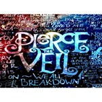Pierce The Veil Quote Galaxy Nebula Peace Sign 3D Greeting Card (7x5) Front