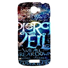Pierce The Veil Quote Galaxy Nebula HTC One S Hardshell Case
