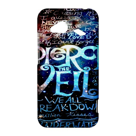 Pierce The Veil Quote Galaxy Nebula HTC Droid Incredible 4G LTE Hardshell Case