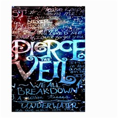 Pierce The Veil Quote Galaxy Nebula Small Garden Flag (two Sides)