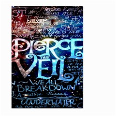 Pierce The Veil Quote Galaxy Nebula Large Garden Flag (two Sides)