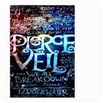 Pierce The Veil Quote Galaxy Nebula Large Garden Flag (Two Sides) Back