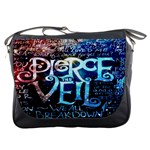 Pierce The Veil Quote Galaxy Nebula Messenger Bags Front