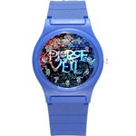 Pierce The Veil Quote Galaxy Nebula Round Plastic Sport Watch (S) Front