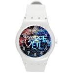 Pierce The Veil Quote Galaxy Nebula Round Plastic Sport Watch (M) Front