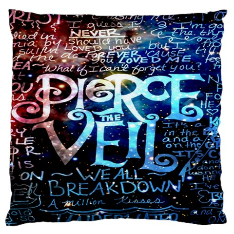 Pierce The Veil Quote Galaxy Nebula Large Cushion Case (One Side)