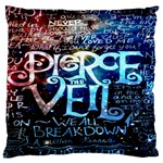 Pierce The Veil Quote Galaxy Nebula Large Cushion Case (Two Sides) Front