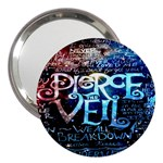 Pierce The Veil Quote Galaxy Nebula 3  Handbag Mirrors Front