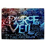 Pierce The Veil Quote Galaxy Nebula Cosmetic Bag (XXL)  Front