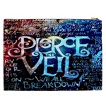 Pierce The Veil Quote Galaxy Nebula Cosmetic Bag (XXL)  Back