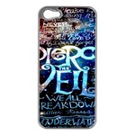 Pierce The Veil Quote Galaxy Nebula Apple iPhone 5 Case (Silver) Front