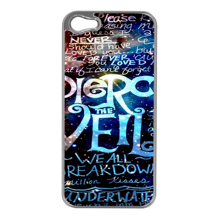 Pierce The Veil Quote Galaxy Nebula Apple iPhone 5 Case (Silver)