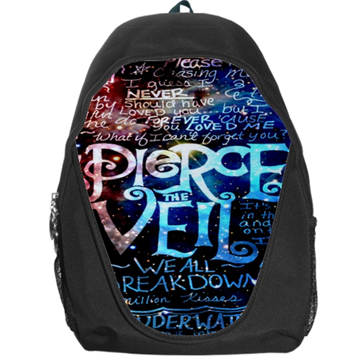 Pierce The Veil Quote Galaxy Nebula Backpack Bag
