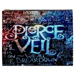 Pierce The Veil Quote Galaxy Nebula Cosmetic Bag (XXXL)  Front