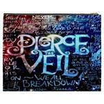 Pierce The Veil Quote Galaxy Nebula Cosmetic Bag (XXXL)  Back