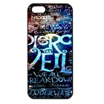 Pierce The Veil Quote Galaxy Nebula Apple iPhone 5 Seamless Case (Black) Front