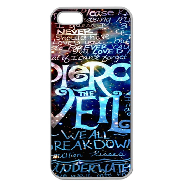 Pierce The Veil Quote Galaxy Nebula Apple Seamless iPhone 5 Case (Clear)