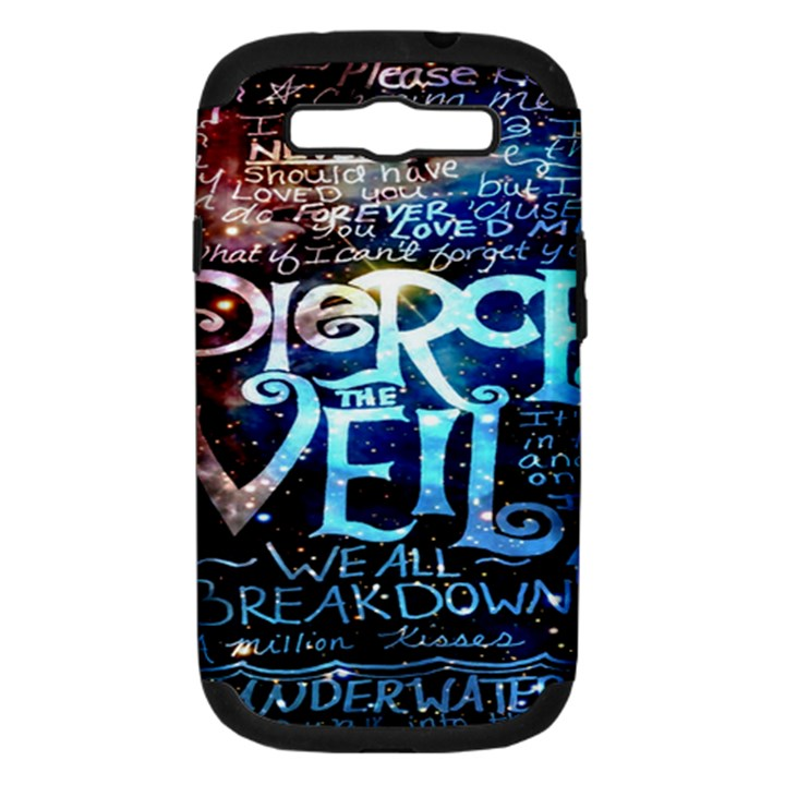 Pierce The Veil Quote Galaxy Nebula Samsung Galaxy S III Hardshell Case (PC+Silicone)