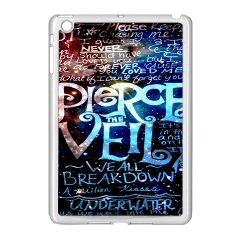 Pierce The Veil Quote Galaxy Nebula Apple iPad Mini Case (White)