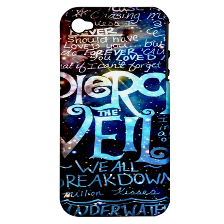Pierce The Veil Quote Galaxy Nebula Apple iPhone 4/4S Hardshell Case (PC+Silicone)