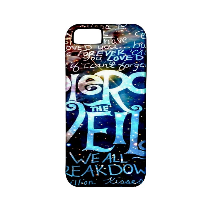 Pierce The Veil Quote Galaxy Nebula Apple iPhone 5 Classic Hardshell Case (PC+Silicone)