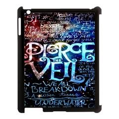 Pierce The Veil Quote Galaxy Nebula Apple iPad 3/4 Case (Black)