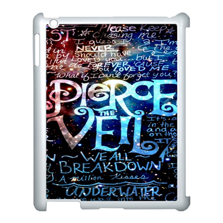 Pierce The Veil Quote Galaxy Nebula Apple iPad 3/4 Case (White)
