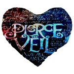 Pierce The Veil Quote Galaxy Nebula Large 19  Premium Heart Shape Cushions Front