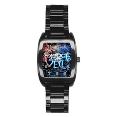 Pierce The Veil Quote Galaxy Nebula Stainless Steel Barrel Watch