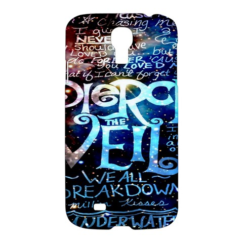 Pierce The Veil Quote Galaxy Nebula Samsung Galaxy S4 I9500/I9505 Hardshell Case