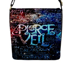 Pierce The Veil Quote Galaxy Nebula Flap Messenger Bag (L)