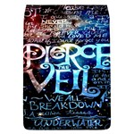 Pierce The Veil Quote Galaxy Nebula Flap Covers (L)  Front