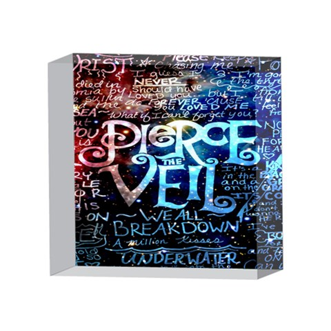 Pierce The Veil Quote Galaxy Nebula 4 x 4  Acrylic Photo Blocks