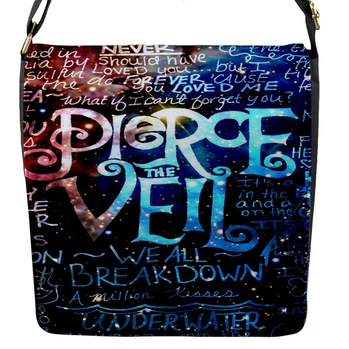 Pierce The Veil Quote Galaxy Nebula Flap Messenger Bag (S)