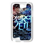 Pierce The Veil Quote Galaxy Nebula Samsung Galaxy Note 2 Case (White) Front